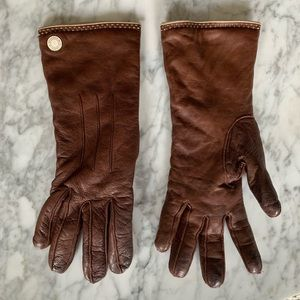 Coach Leather & Cashmere Gloves